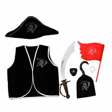 7 Pieces Pirate Makeup Set for Children Costume SH