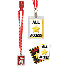 """25"""" Hollywood Star VIP Party Pass Fancy Dress Accessory Necklaces"""
