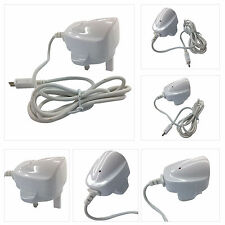 WHITE 3 PIN UK MAINS PLUG MICRO USB COMPATIBLE CHARGER FOR SAMSUNG GALAXY FAME S