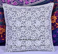 Floral Printed Pillow Cover Hand Block Throw Indian Traditional Home Decor Art