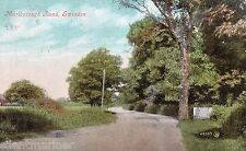Marlborough Road, Swindon, old coloured postcard, posted 1906