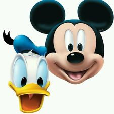Mickey Mouse Clubhouse Party - 4 Card Masks + Elastic Pluto - Free Postage in UK