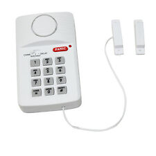 Wireless Security Keypad Door Alarm System With Panic Button Shed Garage Caravan