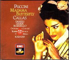 PUCCINI: MADAMA BUTTERFLY Maria CALLAS Nicolai GEDDA Luisa VILLA KARAJAN EMI 2CD