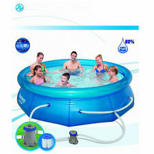 Brand New BESTWAY 10 FT Inflatable Outdoor Swimming Pool Filter Pump 305x76cm