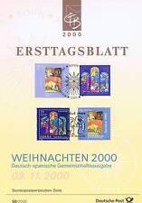 BRD 2000: Weihnachten Ersttagsblatt der Nr 2151+2152! Plus Parallelausgabe! 1611