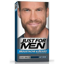 New Just For Men Moustache Beard Dye Colour Light Brown Facial Hair Colouring