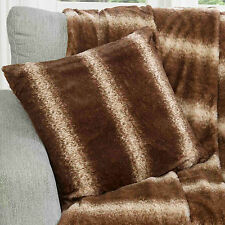 New Faux Fur Nordic Cushion Cover in Brown - So Soft & Warm - 45 x 45 cm