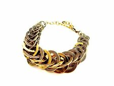 STuNNing ChunKy Unusual Gold Hoops STaTemenT BraceleT BanGle LaGeNlooK JeWelleRy