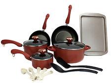 Paula Deen 15-Piece Kitchen Cookware Set Nonstick Pots Home Pans, Salmon | 21625