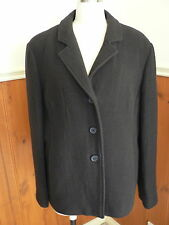PRE LOVED LADIES SIZE 14 IQ SMART CLOTHES BROWN WOOL CASHMERE COAT JACKET WARM