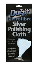 DUZZIT MICROFIBRE SILVER POLISHING CLOTH - Suitable for all types of metals