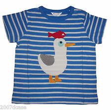 Baby Boys Stripy T Shirt Age 0 3 Months Mini Boden Applique Seagull Top Nautical