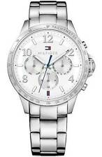 AUTHENTIC TOMMY HILFIGER WOMEN'S CHRONOGRAPH WATCH 1781641 STAINLESS STEEL