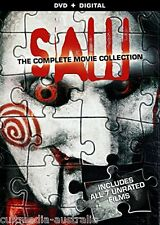 SAW THE COMPLETE UNCUT HORROR FILMS COLLECTION 1 2 3 4 5 6 7 NEW 3 DVD BOXSET