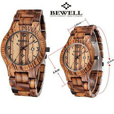 Wood Watch Wristwatch Bewell Wooden Men's Quartz Wrist Watch Gift watches
