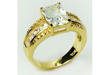 Classic Design Square White Sapphire Men's 10KT yellow Gold Filled Ring