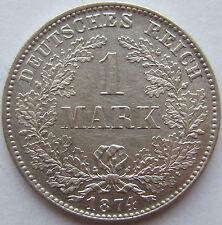 TOP! 1 Mark 1874 D in VORZÜGLICH / STEMPELGLANZ SELTEN !!!