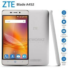 "New ZTE Blade A452 White 5"" IPS Dual Sim 4G LTE Quad Core Android Mobile Phone"