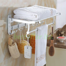 5pcs Bathroom Accessories Set Wall Mount Towel Bar Rack Hardware Robe Holder