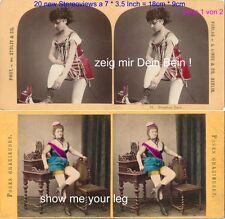 Zeig mir Dein Bein ! 20 erotische Stereofotos semi Nude um 1860 - 1900, Lot 1