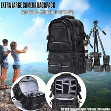 DSLR Camera Backpack Bag Case Shockproof Waterproof For Canon Nikon & Rain Cover