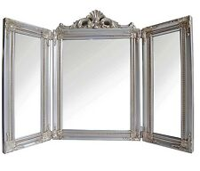 NEW Ornate Pale Gold 3 Part Dressing Table Mirror Boudoir Shabby Chic