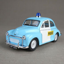 Morris Minor Police 1:26 Scale Collectible Model Car Die-Cast Metal Blue White