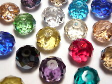 30Pc 8mm Austrian 5040 Crystal Faceted Rondelle Beads - Assorted Mixed Color