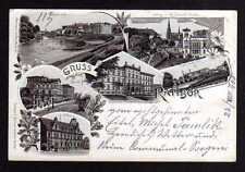 97582 AK Ratibor Schlesien 1900 Post Bahnhof Oderbrücke Ostrog Johanni Kirche