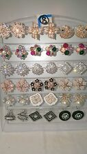 Joblot of 18Pairs Mixed Design Sparkly Diamante stud Earrings-NEW Wholesale lot8