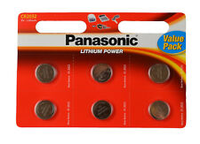 6 Panasonic CR 2032 3Volt Lithium Powered Coin Batteries