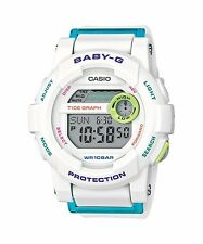 BGD-180FB-7D White Digital Casio Baby-G Watches Lady Resin Band Brand New Model