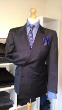 44 R MENS DAKS DD SQUADRON DOUBLE BREASTED GREY 100 % WOOL SUIT JACKET OUTWEAR