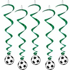 """SOCCER""     Soccer Whirls - 5 Hanging Decorations (5-40in)!"