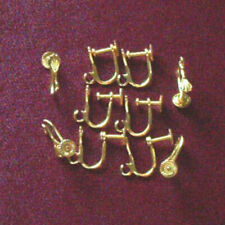 10 pairs of gold plated screw-on earrings, findings for jewellery making