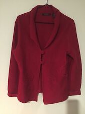 Ladies Red Woolen Jacket Size Small