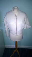 new with tag Asos bomber jacket with pink zip size 12
