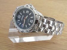 BRAND NEW MENS JEEP WATCH ROUND BLUE DIAL STAINLESS STEEL STRAP 02969