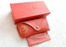 Ray ban Brand new leather Red case with Box & cleaning cloth