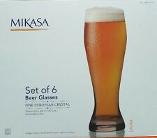 Mikasa Laura Beer Glasses 6 Piece Set Cups 660 ml x 6 cups Glass Euro Crystal 2