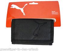 Puma Geldbörse Geldbeutel Portemonnaie mit Klettverschluss schwarz