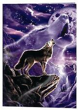 Fantsy Howling Wolf cross stitch pattern