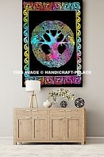 Celtic Tree Of Life Tapestry Multi Tie Dye Tapestries Indian Wall Hanging Throw
