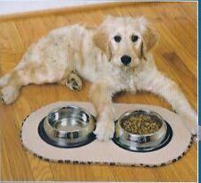 Futternapf Matte Hund beige braun Napfunterlage Futtermatte Fressnapf Fußmatte