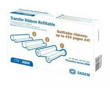 Sagem TTR200R Black Transfer Ribbon TTR200R Original Inkfolie, 3'er pack