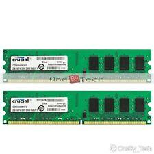 4GB KIT 2x2GB PC2-6400 DDR2-800Mhz 240pin CL6 Desktop Memory Low Density NON-ECC