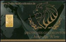 *** 1 g / 1,0 Gramm Gold, Goldbarren, Barren, Bullion / 999,9 Feingold ***
