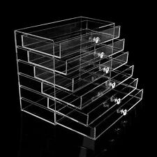 Extra Large 6 Tier Clear Acrylic Makeup Drawers Holder Case Box Jewelry Storage