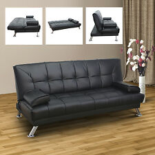 Homcom Schlafsofa Schlafcouch Couch Sofa Bett Klappsofa Bettsofa mit Kopfkissen